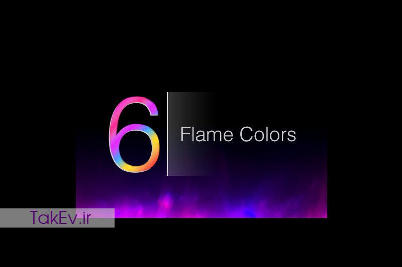 رنگ های متنوع